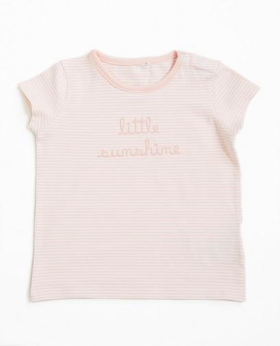 T-shirt rose rayé